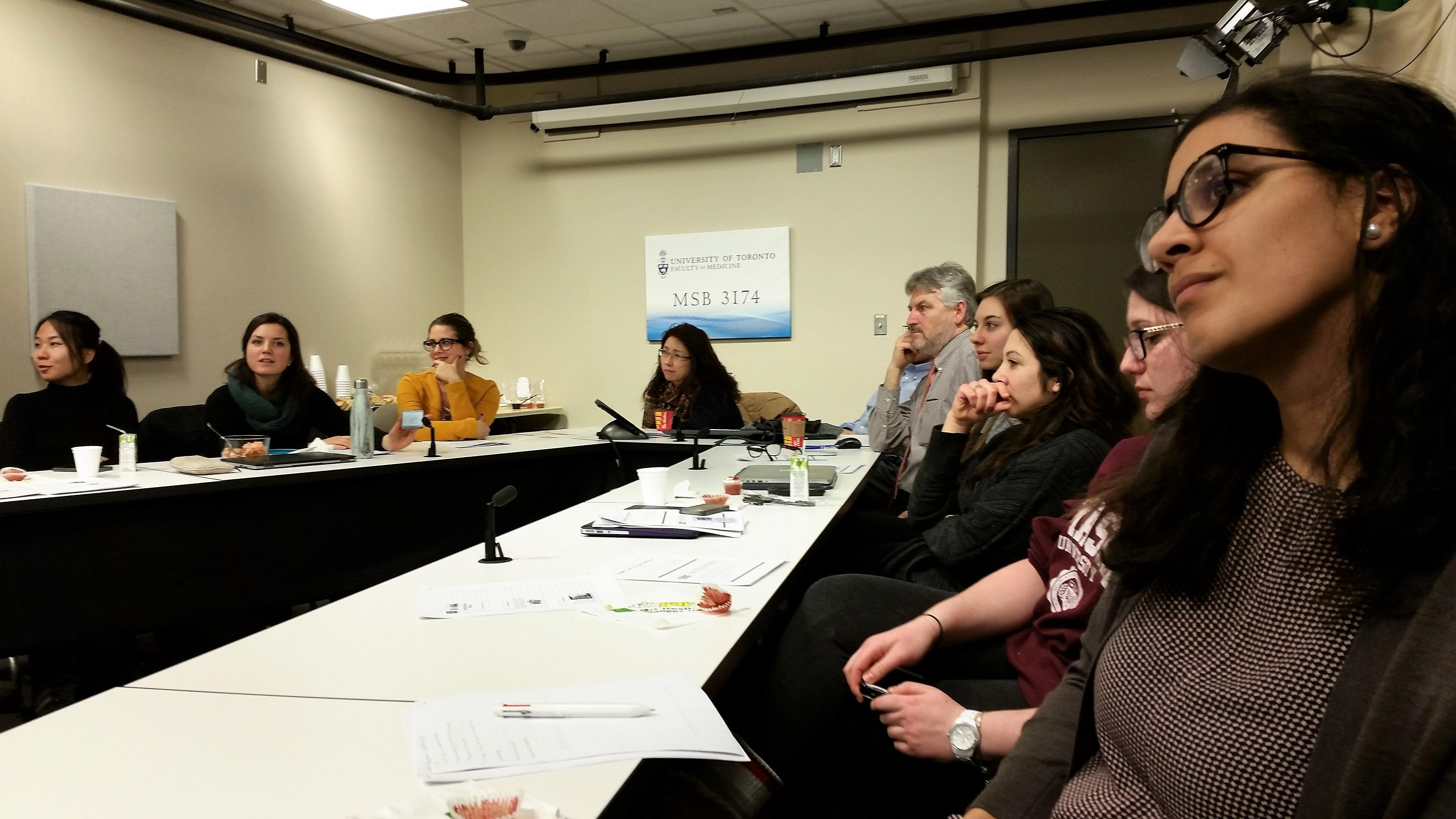 Info-session sur les services communautaires en français et l'offre active pour les étudiants bilingues de la faculté de médecine de l'Université de Toronto, Février 2016