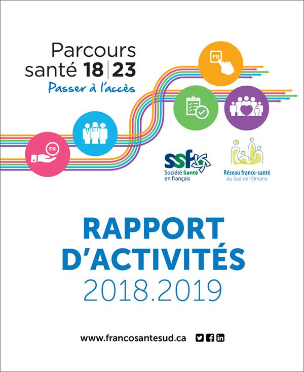 Page couverture du Rapport d'activité 2018-2019